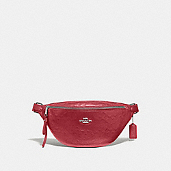 BELT BAG IN SIGNATURE LEATHER - WASHED RED/SILVER - COACH F48741