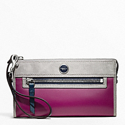COACH POPPY COLORBLOCK LEATHER ZIPPY WALLET - ONE COLOR - F48747