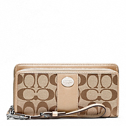 COACH SIGNATURE DOUBLE ZIP ACCORDION ZIP - ONE COLOR - F48748