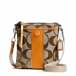 COACH SIGNATURE STRIPE SWINGPACK - ONE COLOR - F48806