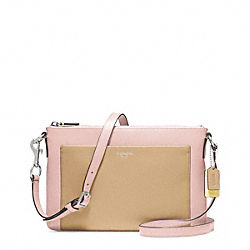 COACH COLORBLOCK LEATHER EAST/WEST SWINGPACK - ONE COLOR - F48872
