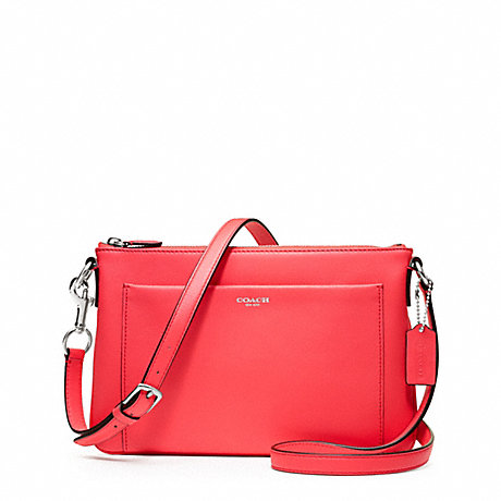 COACH f48880 LEATHER EAST/WEST SWINGPACK