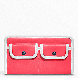 COACH ARCHIVE TWO TONE ZIPPY WALLET - ONE COLOR - F48885