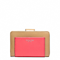 COACH COLORBLOCK LEATHER MEDIUM ZIP WALLET - ONE COLOR - F48892