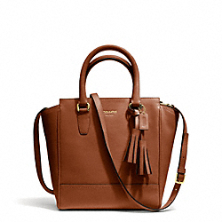 COACH LEATHER MINI TANNER CROSSBODY - BRASS/COGNAC - F48894