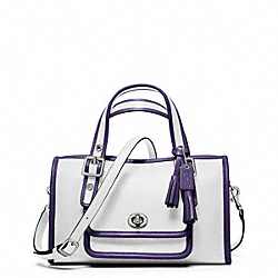 COACH ARCHIVE TWO-TONE MINI SATCHEL - SILVER/CHALK/MARINE - F48896