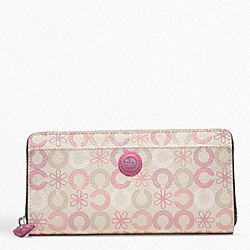 COACH WAVERLY DAISY ACCORDION ZIP - ONE COLOR - F48912