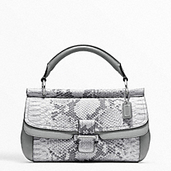 COACH MADISON PINNACLE EMBOSSED PYTHON DOWEL CLUTCH - ONE COLOR - F48921