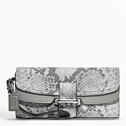 COACH MADISON PINNACLE EMBOSSED PYTHON SLIM ENVELOPE - ONE COLOR - F48922