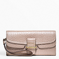 COACH MADISON FLAGSHIP PEBBLE SLIM ENVELOPE - GOLD/PINK PEARL - F48924