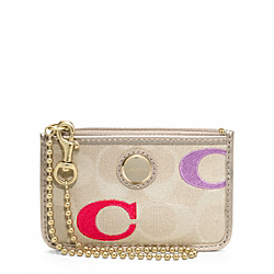COACH POPPY EMBROIDERED SIGNATURE C ID SKINNY - ONE COLOR - F48946