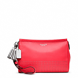 PERFORATED LEATHER LARGE WRISTLET - f48957 - 25692