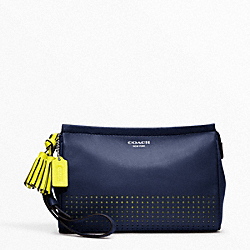 PERFORATED LEATHER LARGE WRISTLET - f48957 - 32124