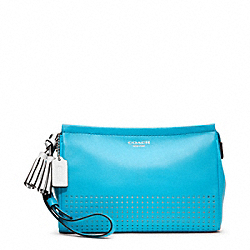 PERFORATED LEATHER LARGE WRISTLET COACH F48957