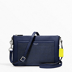 COACH PERFORATED LEATHER SWINGPACK - ONE COLOR - F48979