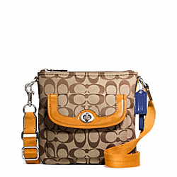 COACH PARK SIGNATURE SWINGPACK - BRASS/KHAKI/ORANGE SPICE - F49148