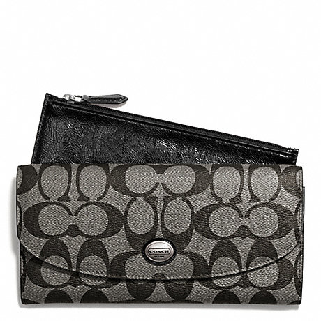 COACH PEYTON SIGNATURE SLIM ENVELOPE WITH POUCH -  - f49154