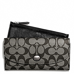 COACH PEYTON SIGNATURE SLIM ENVELOPE WITH POUCH - ONE COLOR - F49154