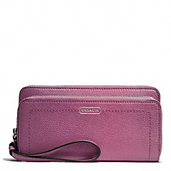 COACH PARK LEATHER DOUBLE ACCORDION ZIP - ONE COLOR - F49157