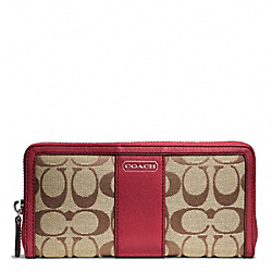COACH PARK SIGNATURE ACCORDION ZIP - ONE COLOR - F49159
