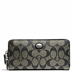 COACH PEYTON SIGNATURE ACCORDION ZIP WALLET - ONE COLOR - F49163