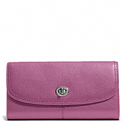PARK LEATHER TURNLOCK SLIM ENVELOPE - SILVER/ROSE - COACH F49167
