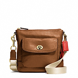 COACH PARK LEATHER SWINGPACK - BRASS/BRITISH TAN - F49170