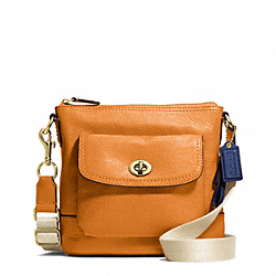 COACH PARK LEATHER SWINGPACK - BRASS/ORANGE SPICE - F49170