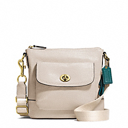 COACH PARK LEATHER SWINGPACK - BRASS/STONE - F49170