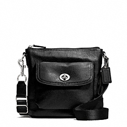 COACH PARK LEATHER SWINGPACK - SILVER/BLACK - F49170