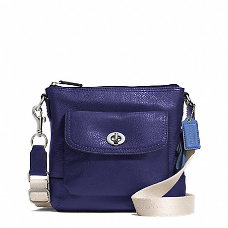 COACH f49170 PARK LEATHER SWINGPACK SILVER/INDIGO