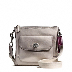 COACH PARK LEATHER SWINGPACK - SILVER/PEWTER - F49170