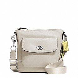 PARK LEATHER SWINGPACK - SILVER/PEARL - COACH F49170