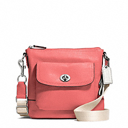 PARK LEATHER SWINGPACK - SILVER/TEAROSE - COACH F49170