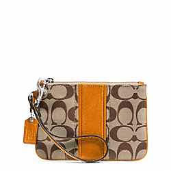 COACH SIGNATURE STRIPE SMALL WRISTLET - ONE COLOR - F49174