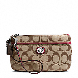 COACH PARK SIGNATURE MEDIUM WRISTLET - ONE COLOR - F49175