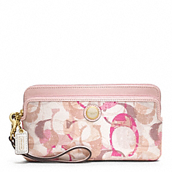 POPPY STAMPED C DOUBLE ZIP WALLET - f49200 - 32127