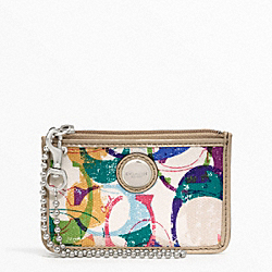 COACH POPPY STAMPED C ID SKINNY - SILVER/MULTICOLOR - F49208
