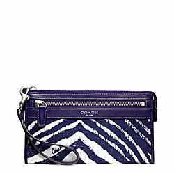 COACH ZEBRA PRINT ZIPPY WALLET - ONE COLOR - F49223