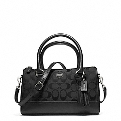 COACH LEGACY WEEKEND SIGNATURE MINI SATCHEL - SILVER/BLACK/BLACK - F49283