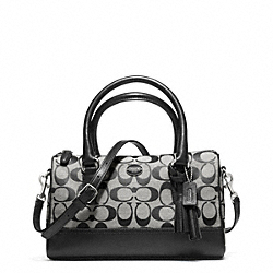 COACH LEGACY WEEKEND SIGNATURE MINI SATCHEL - SILVER/BLACK/WHITE/BLACK - F49283