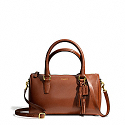 COACH MINI SATCHEL IN LEATHER - BRASS/COGNAC - F49292