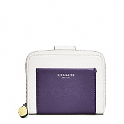COACH COLORBLOCK LEATHER MEDIUM ZIP AROUND - ONE COLOR - F49330