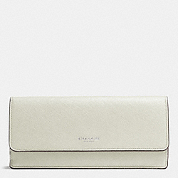 COACH SOFT WALLET IN SAFFIANO LEATHER - DARK NICKELSOFT IVY - F49350