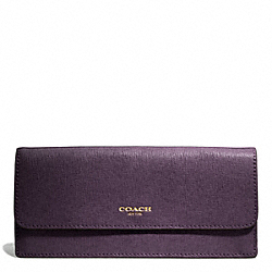 COACH SAFFIANO LEATHER SOFT WALLET - ONE COLOR - F49350