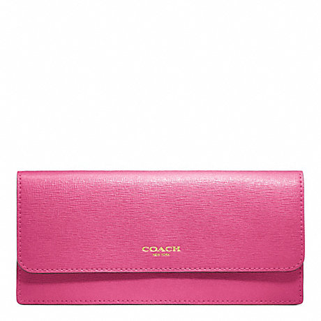 COACH SAFFIANO LEATHER NEW SOFT WALLET -  - f49350
