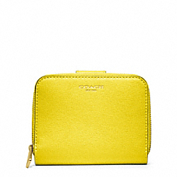 COACH SAFFIANO LEATHER MEDIUM ZIP AROUND - ONE COLOR - F49352