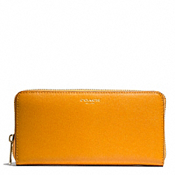 COACH SAFFIANO LEATHER ACCORDION ZIP - BRASS/MARIGOLD - F49355