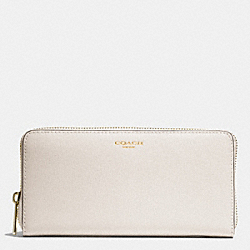 SAFFIANO LEATHER ACCORDION ZIP WALLET - LIGHT GOLD/PARCHMENT - COACH F49355