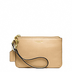 COACH SAFFIANO LEATHER SMALL WRISTLET - ONE COLOR - F49377